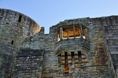 Ściana i okno Barnard kasztel  zdjęcie stock