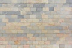 Ściana jest marmurowe szarość i pal pomarańcze płytki Piękna kamienna tekstura tło pusty Zdjęcia Royalty Free