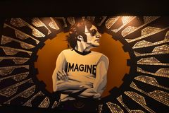 Ściana John Lennon przy hard rock hotelem zdjęcie royalty free
