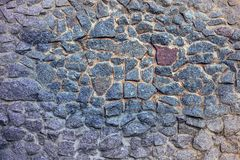 Ściana - kłaść od kamieni obraz stock