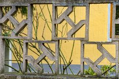 Ściana kamień z jednostka wzorem fotografia royalty free