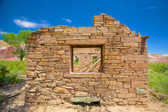 Ściana kamienia dom Obrazy Stock