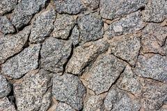 Ściana kawałki kamienie zamknięci zdjęcia royalty free
