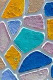 Ściana malująca w różnorodnych kolorach Fotografia Royalty Free