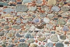 Kamienie i cegły ściana Obrazy Stock