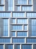Ściana nowożytny budynek biurowy szkło i metal w techno stylu jako tło Zdjęcie Royalty Free