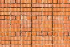 Ściana od czerwonej cegły, tekstury lub tła starych, zdjęcie stock