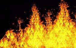 Ściana ogień obrazy royalty free