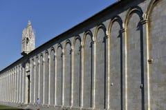 Ściana piazza dei Miracoli, Pisa, Włochy Zdjęcia Royalty Free