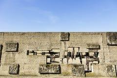 Ściana przy Pawiak więzienia muzeum Fotografia Stock