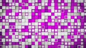Ściana purpurowy i biały 3D boksuje abstrakcjonistycznego tło Zdjęcie Stock
