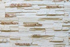 Ściana robić dekoracyjny jasnobrązowy kamień Dekorować dla graby Tło zdjęcie royalty free