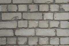 Ściana stare białe cegły Obraz Royalty Free