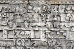 Ściana stary antyczny sztukateryjny tło obrazy stock