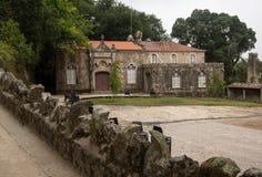 Ściana w Quinta De Regaleira w romantycznym sintra zdjęcie stock