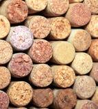 Ściana wiele różni wino korki Zbliżenie wino korki Zamyka up korkowy wino Obrazy Stock