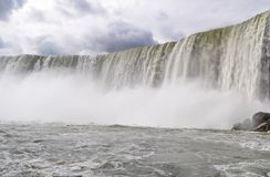 Ściana Wody przy Niagara spadkami zdjęcia stock