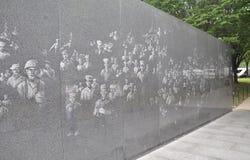 Ściana wojna koreańska pomnik od Waszyngtońskiego dystryktu kolumbii obrazy royalty free