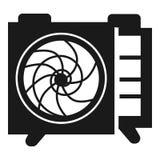 Ściana wspinał się lotniczą conditioner ikonę, prosty styl ilustracja wektor