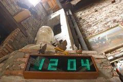 Ściana wspinający się cyfrowy zegar Zdjęcie Royalty Free