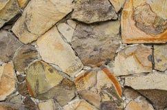 Ściana wykładająca z kamieniami Obraz Stock