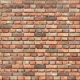 Ściana z cegieł bezszwowy tło. Obrazy Stock