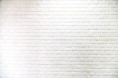 Ściana z cegieł biały tło, tekstura i, wzór Zdjęcie Stock