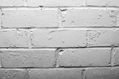ściana z cegieł biel Obrazy Royalty Free