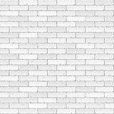 ściana z cegieł biel Fotografia Royalty Free