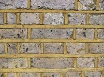 ściana z cegieł biel kolor żółty Obraz Stock