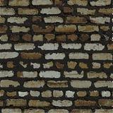 Ściana z cegieł, brown reliefowa tekstura z cieniem Fotografia Stock