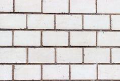 Ściana z cegieł cegły z bielem Zdjęcie Stock