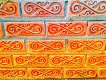 Ściana z cegieł czerwony kolor, szeroka panorama zdjęcia royalty free