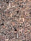 Ściana z cegieł deseniowy tło Fotografia Royalty Free