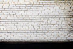 Ściana z cegieł grunge czerni biel malujący tło Zdjęcie Royalty Free