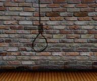 Ściana z cegieł i cienia powieszenia obrazy royalty free