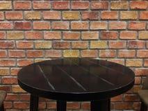 Ściana z cegieł i stół Obraz Stock