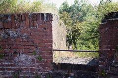 Ściana z cegieł kasztel Obraz Stock