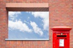 Ściana z cegieł z otwarciem Zdjęcie Royalty Free