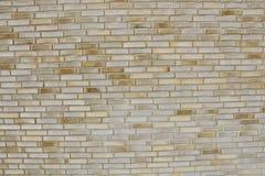 Ściana z cegieł Piaska koloru kamieniarstwo nowa ceglana ściana Fotografii cegła Fotografia Stock