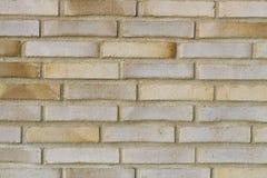 Ściana z cegieł Piaska koloru kamieniarstwo nowa ceglana ściana Fotografii cegła Obrazy Stock