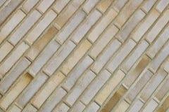 Ściana z cegieł Piaska koloru kamieniarstwo nowa ceglana ściana Fotografii cegła Zdjęcie Royalty Free