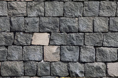 Ściana z cegieł robić lawa kamień szczegółowe prawdziwe tło bardzo kamień Obrazy Stock