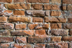 Ściana z cegieł rocznik Obraz Royalty Free