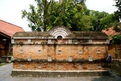 Ściana z cegieł rozdział w kompleksie Wielki Meczetowy Kotagede Obraz Stock