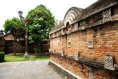 Ściana z cegieł rozdział w kompleksie Wielki Meczetowy Kotagede Zdjęcia Royalty Free
