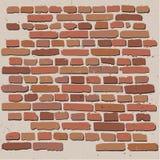 Ściana z cegieł rzemiosło Fotografia Royalty Free