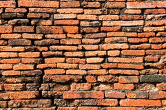 Ściana z cegieł stara tekstura Fotografia Stock