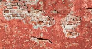 Ściana z cegieł stara tekstura Zdjęcia Royalty Free