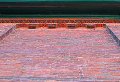 Ściana z cegieł szczegół Zdjęcia Royalty Free